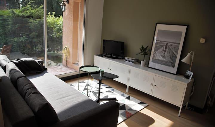 Appartement T2 cosy et son jardin