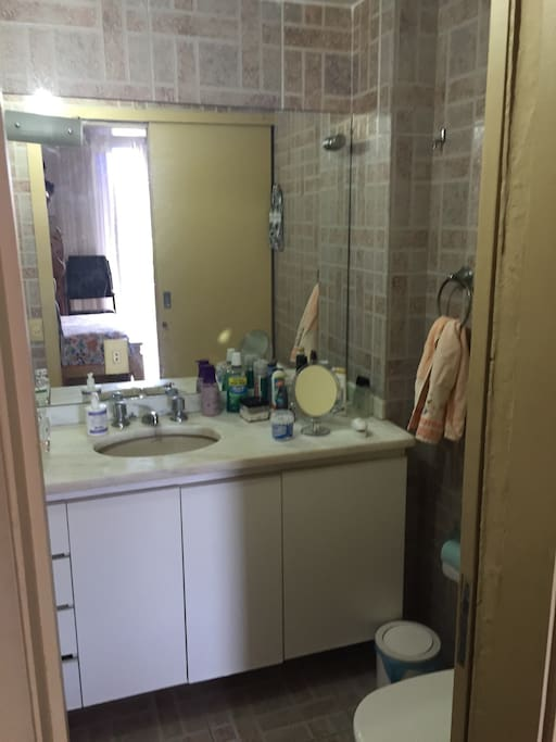 In suite bathroom with lots of space