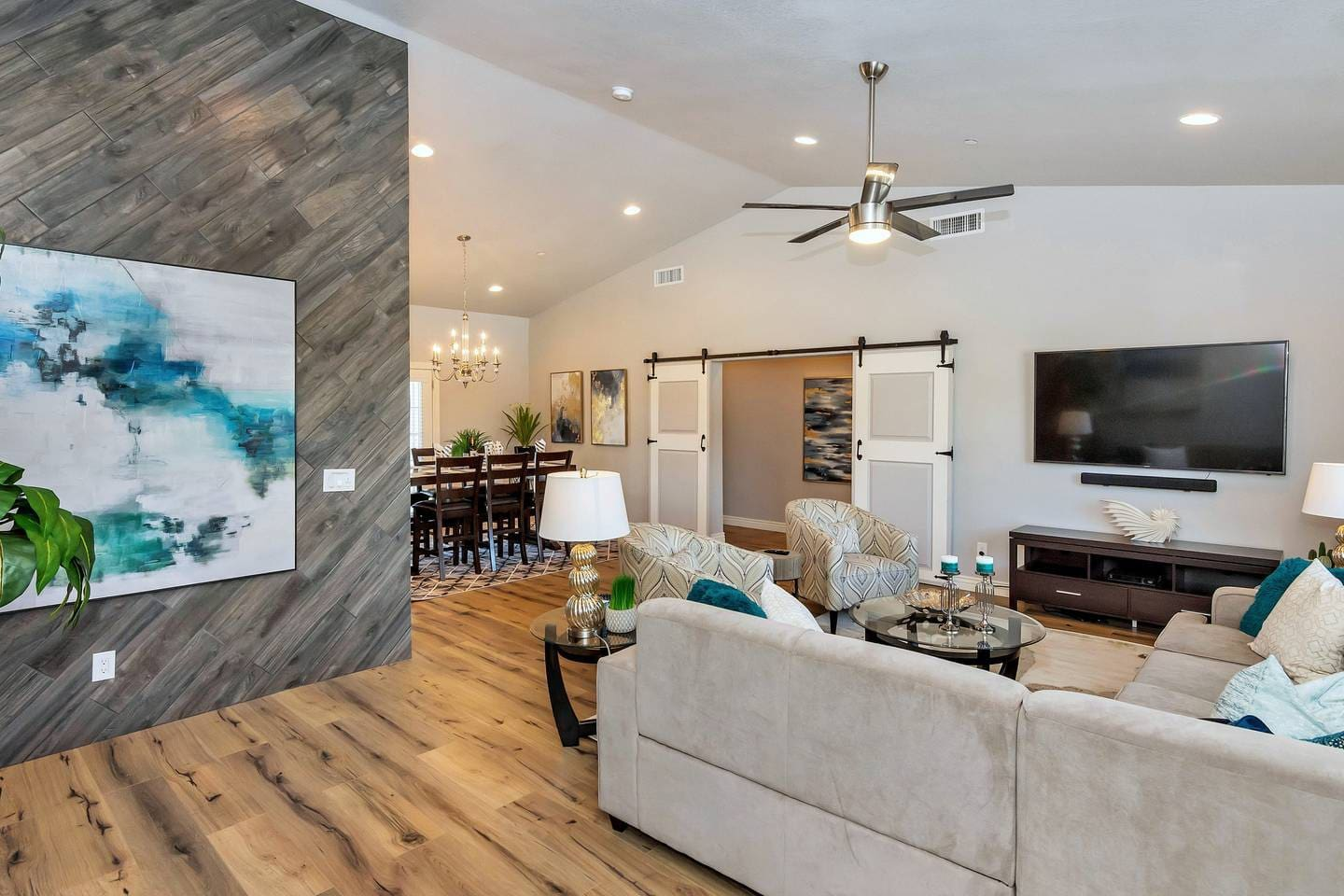 Relax in our big house near Old Town Scottsdale with our open kitchen/living room layout.