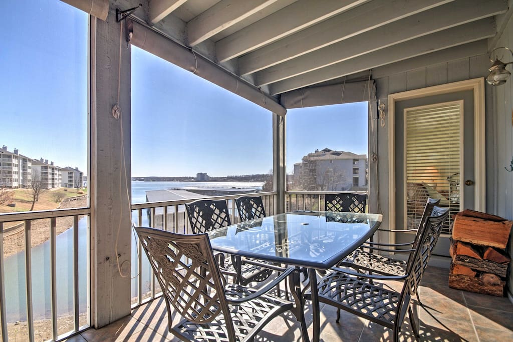 Relax on the private patio overlooking Regatta Bay