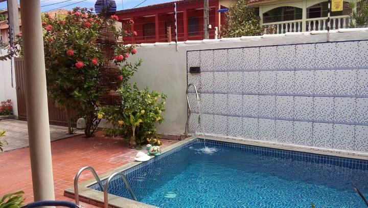 Casa com piscina confortável