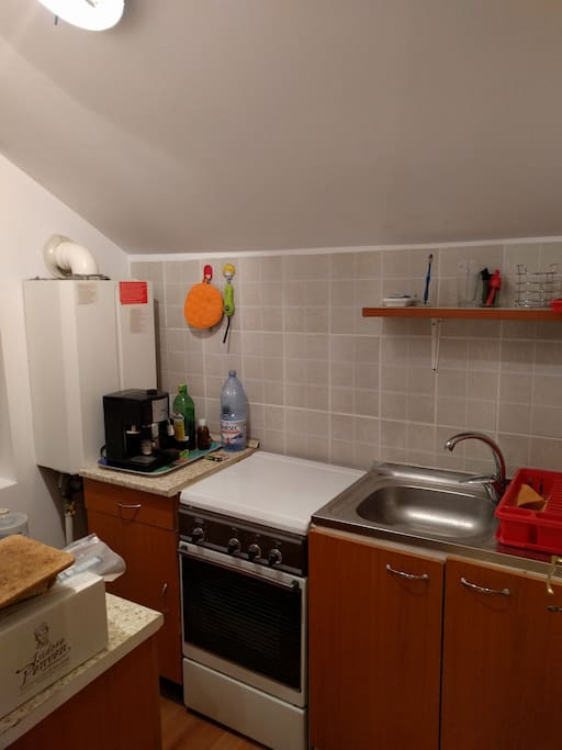 Kitchen - small but well equipped