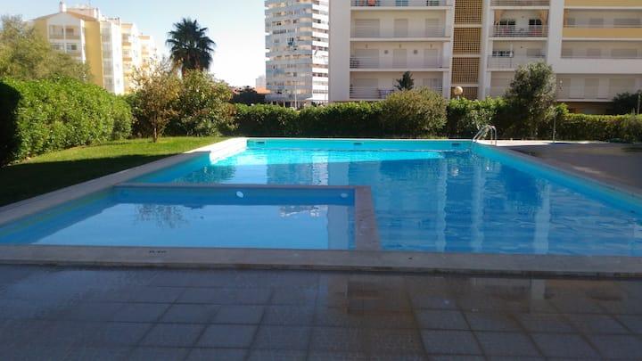 Sunny Apartamento, ar condicionado perto da praia