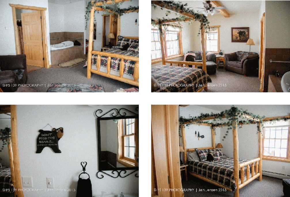 The Bear Den... a wonderful place to hibernate with a two person Jacuzzi.