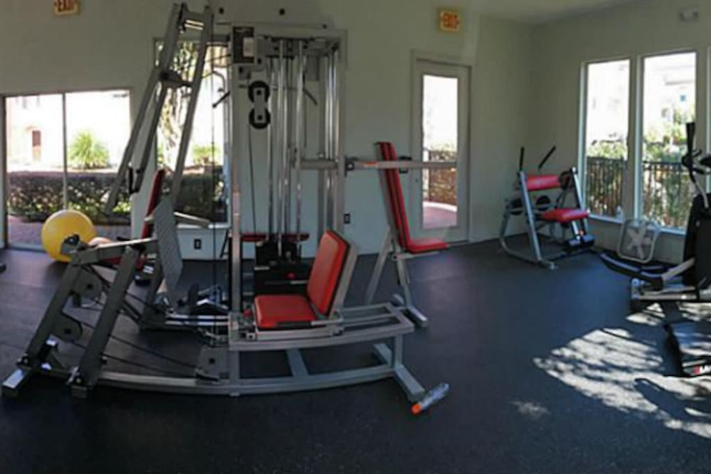 State of the art and newly remodelled fitness center inside the gated community