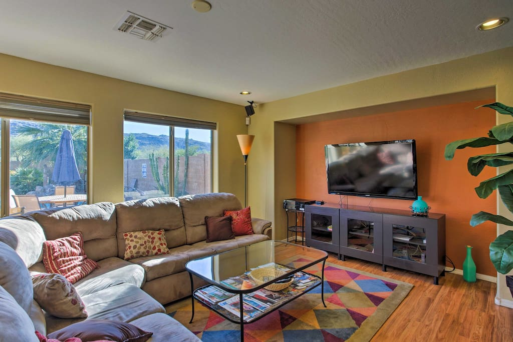 Inside, you'll be greeted by vibrant colors and comfortable furnishings.