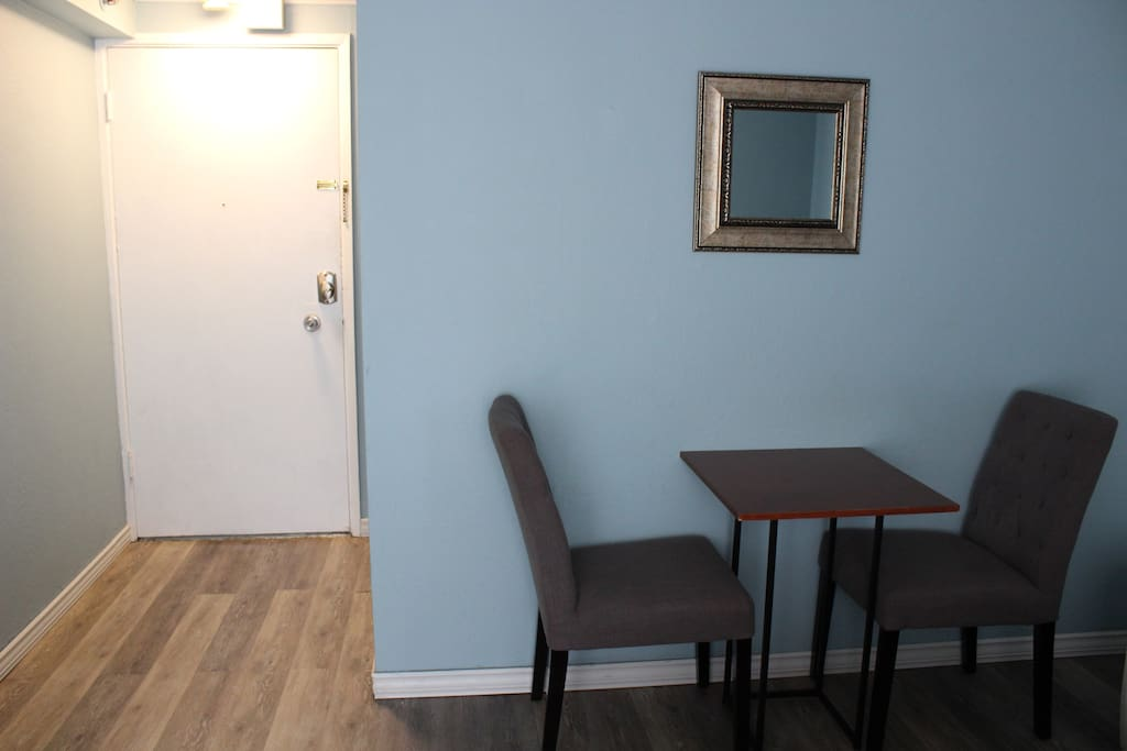 Dining area inside the unit