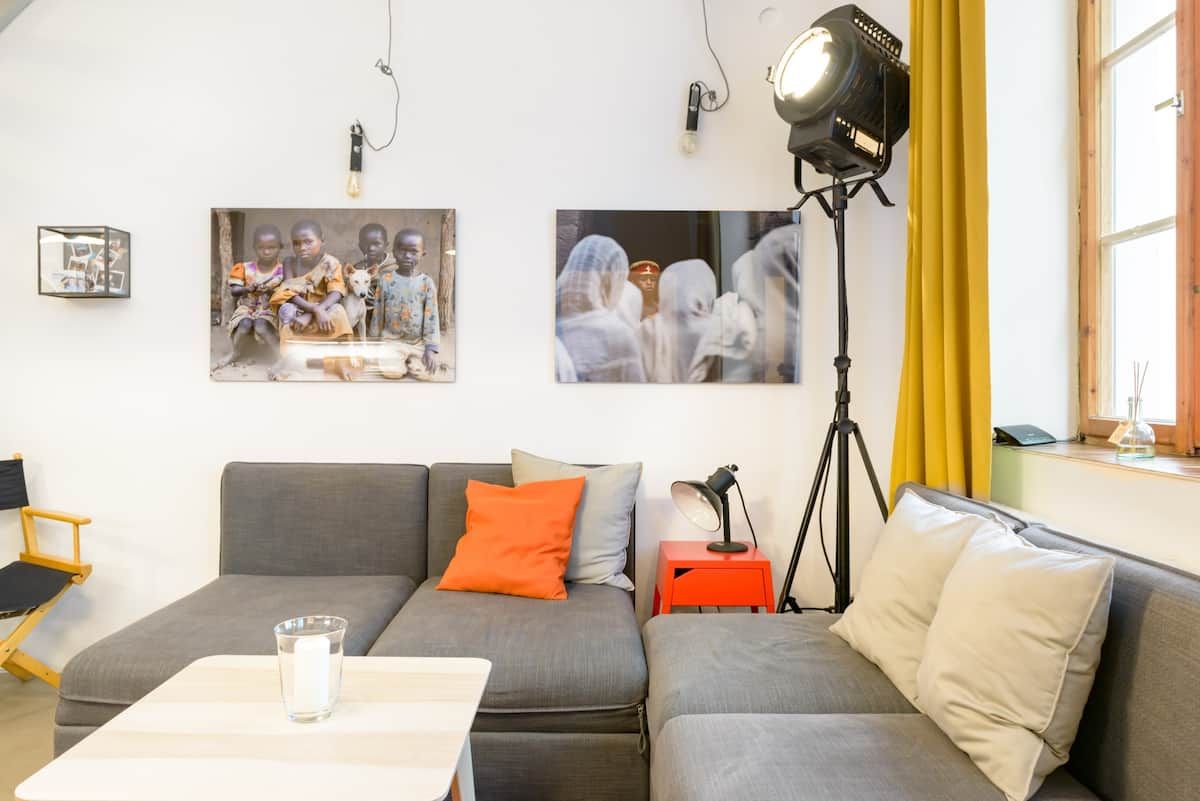 Renovated Bohemian Loft Apartment near Prague Castle