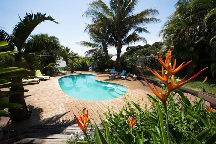 Villa avec piscine - Saint Pierre - de 2 à 6 pers.