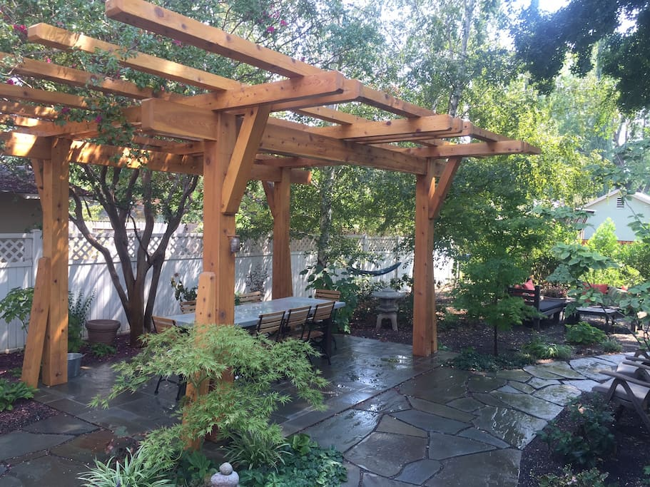 View of back patio.