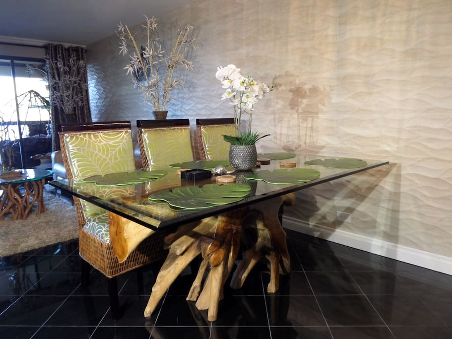 Sophisticated dining table