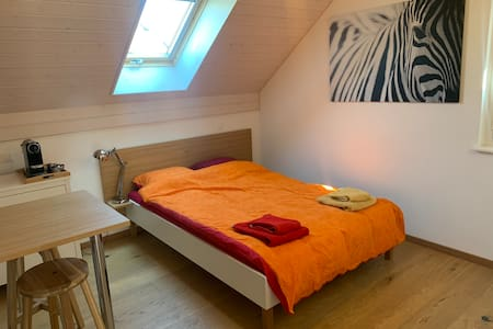 Bedroom with it's own bathroom in Trélex (Nyon)