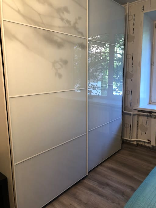 Wardrobe in a large room