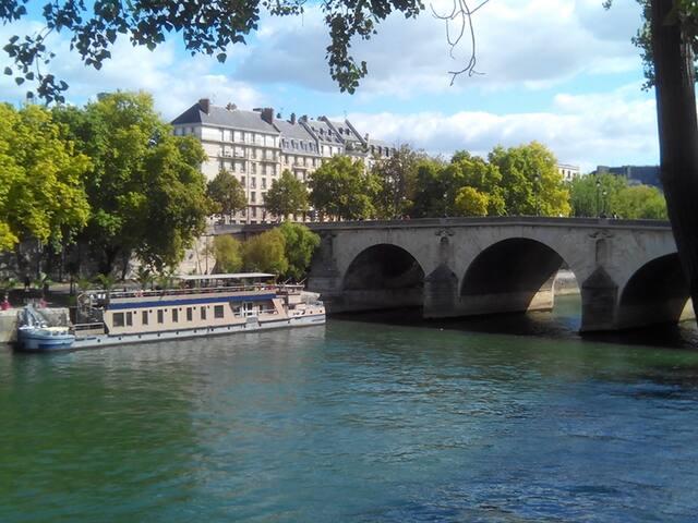 Marais-Notre Dame studio A/C calm - Paris - Daire
