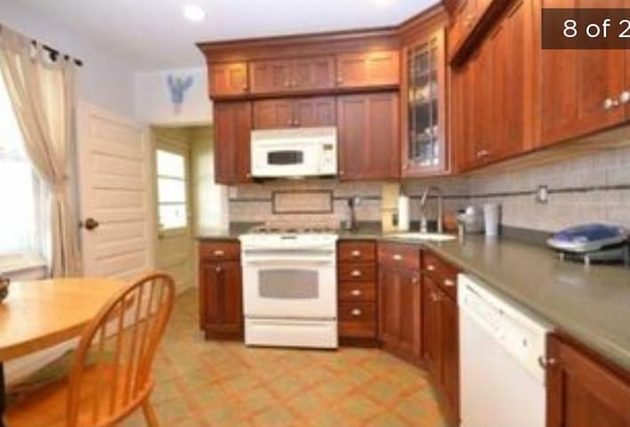 Updated, well appointed, shared kitchen.