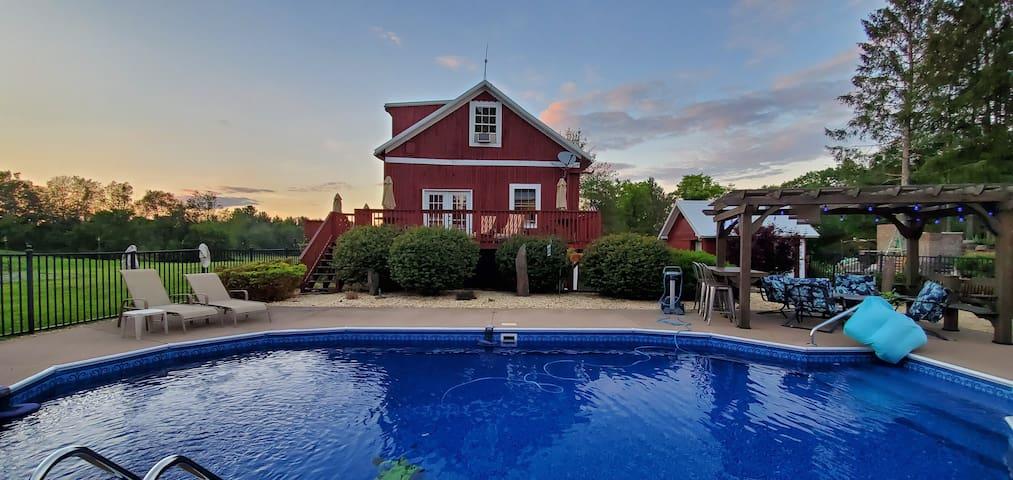 Restored barn/home on Heartsherd Animal Sanctuary