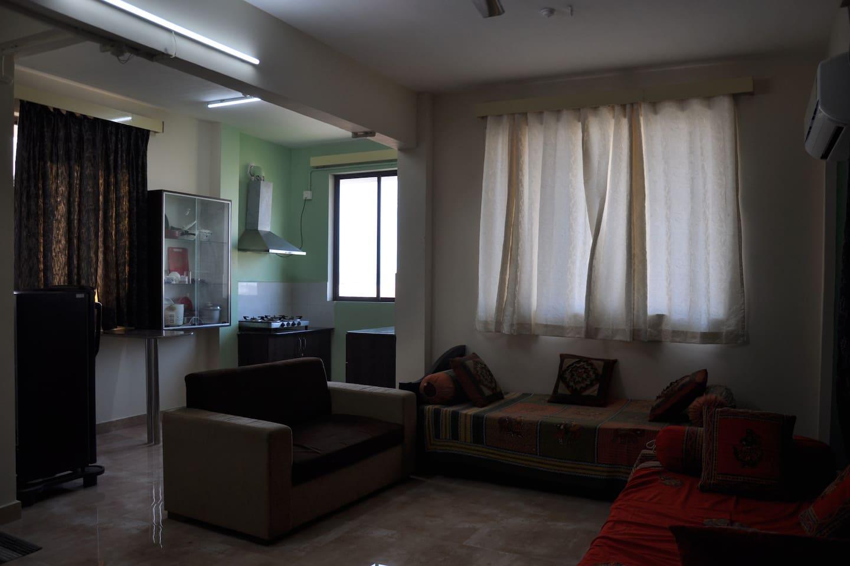 Vallurupalli's 1BHK AC Apartment
