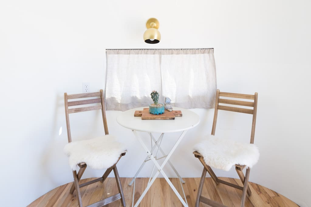 Table in airstream