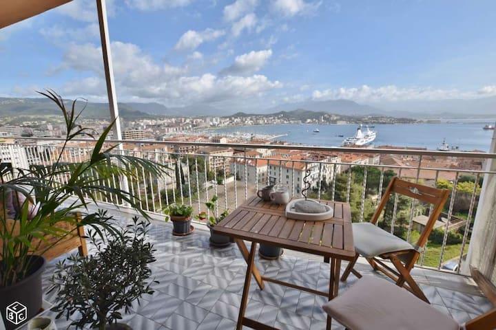 Superbe appartement vue imprenable - Ajaccio - Lejlighed