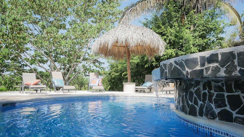 "Lovely Garden Pool with ""Beach"" area"
