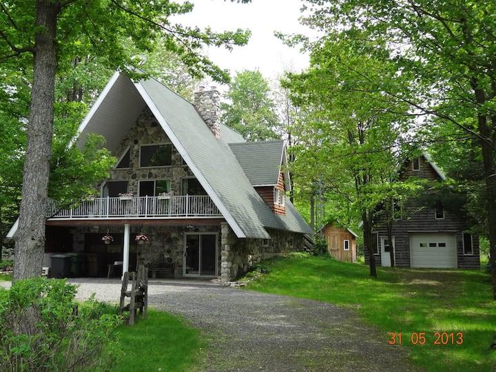 Grande maison de campagne style chalet suisse