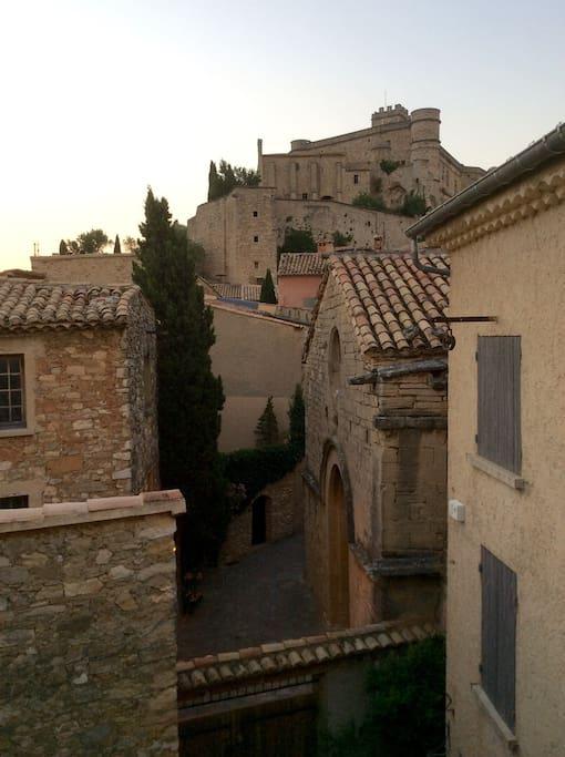 Châteaux vu de la terrasse