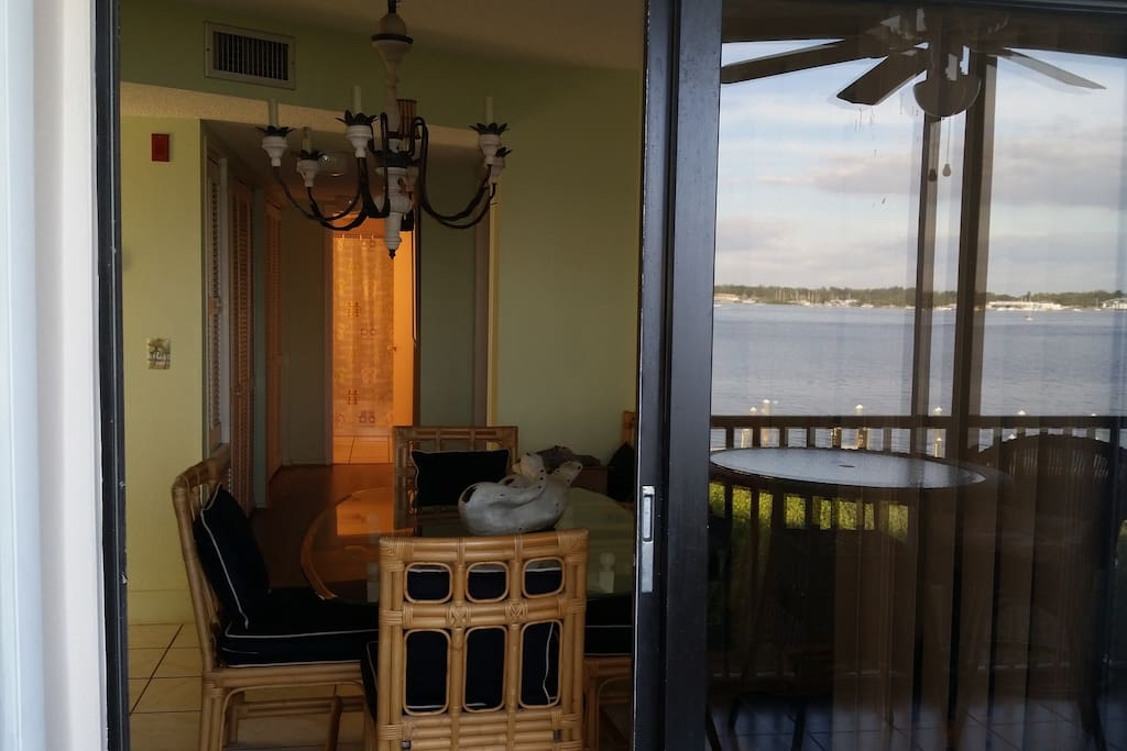 Dining Room is on the water