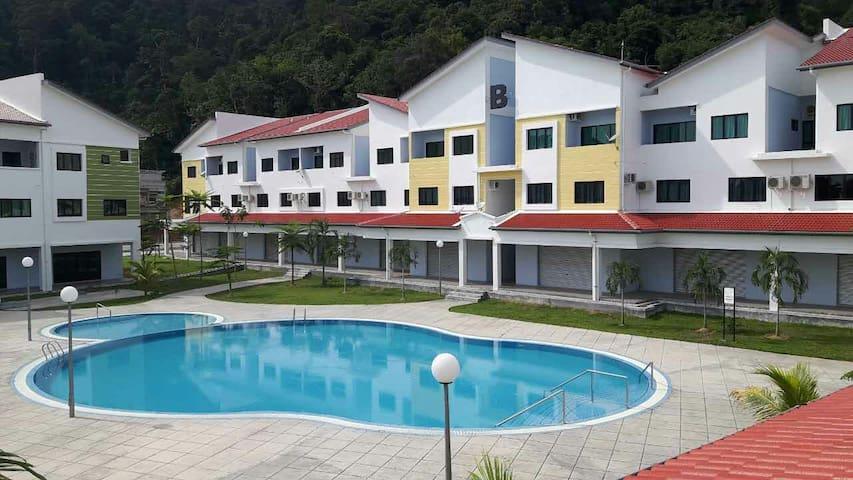 Pangkor Lot 10 Vacation Studio 邦咯乐天度假屋 - Pangkor - Apartemen