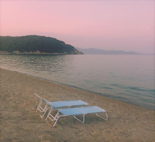 Enjoy the sunset at the beautiful beach in front of the villa