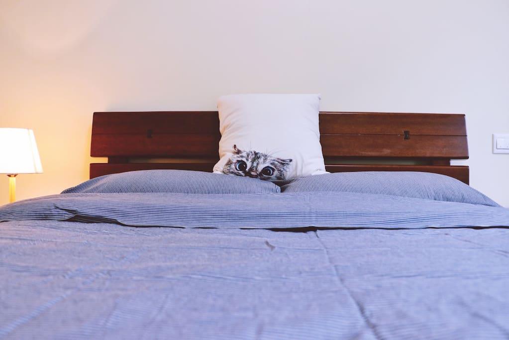 舒服的双人床
