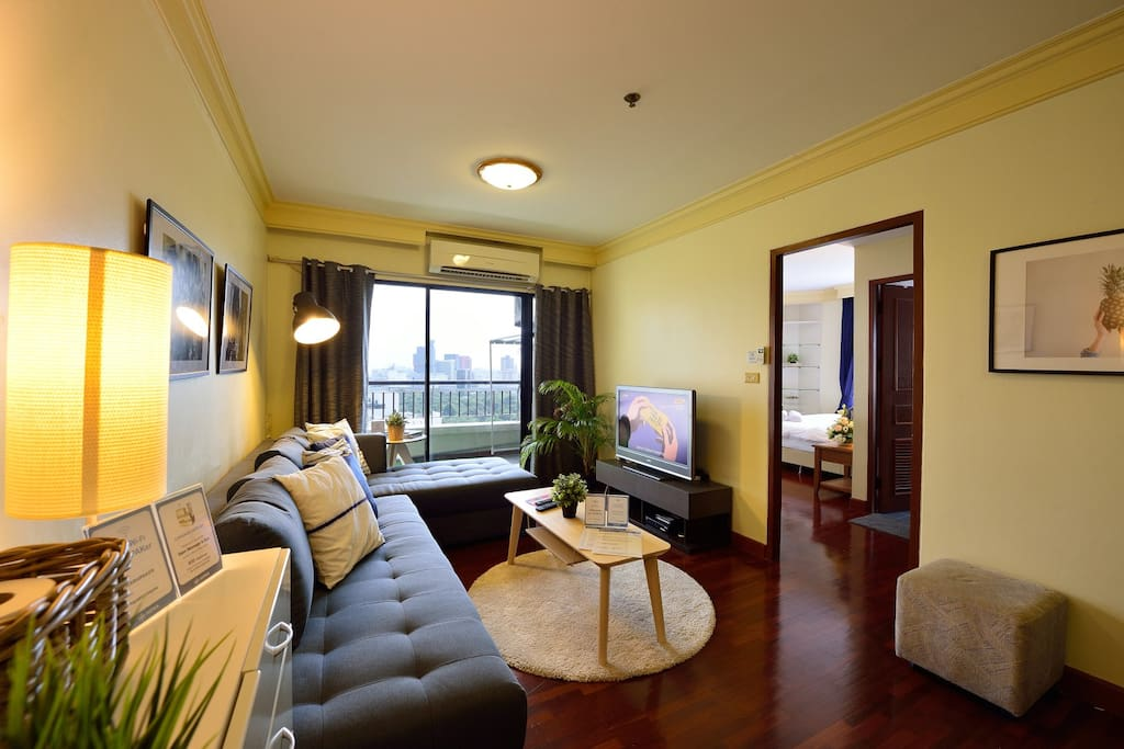 Living room with fabulous view