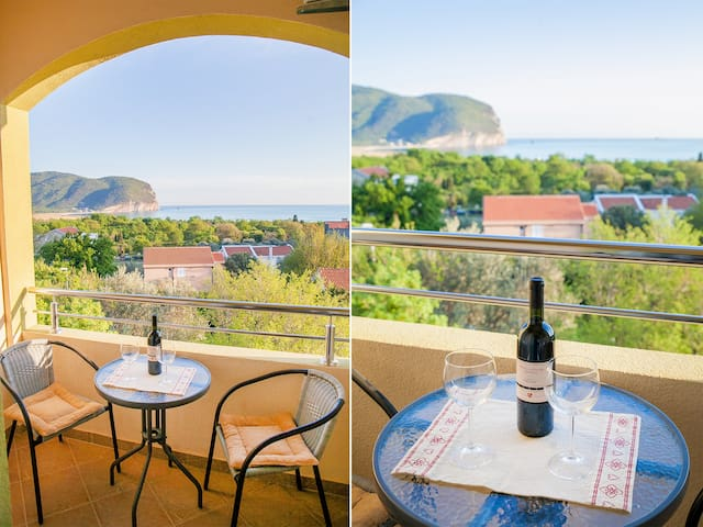 Nobel-Lovely Studio with Balcony and Sea View - Kaluđerac - Daire