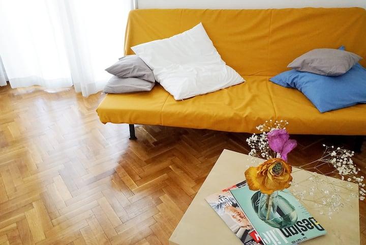 Spacious apartment with big veranda