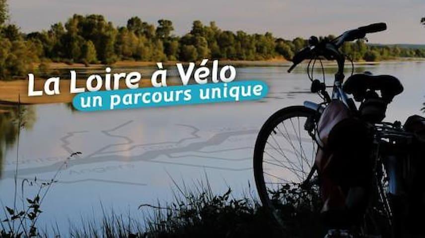 """A proximité du circuit """"La Loire à vélo"""""""
