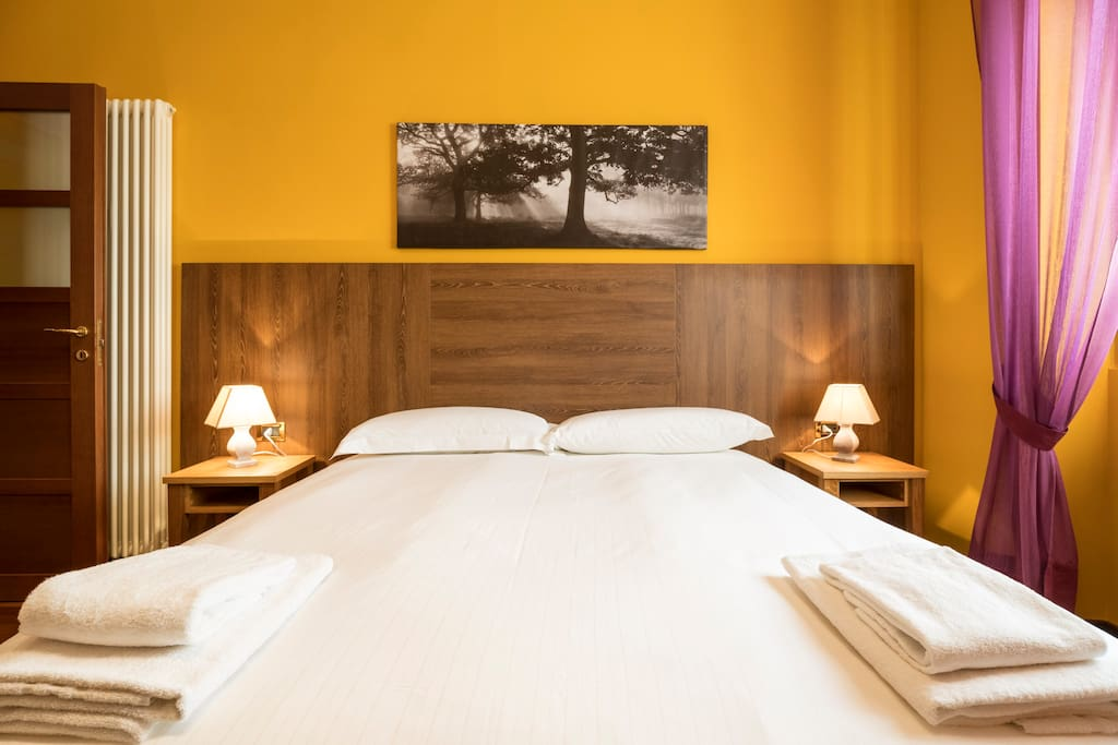 The Bedroom - The soft double bed & The linen