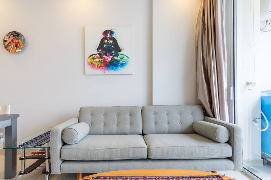 The living room - we are Star Wars fans!