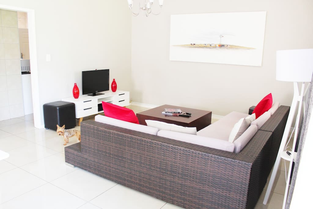 TV room, DSTV and Fibre Internet throughout accommodation and garden.