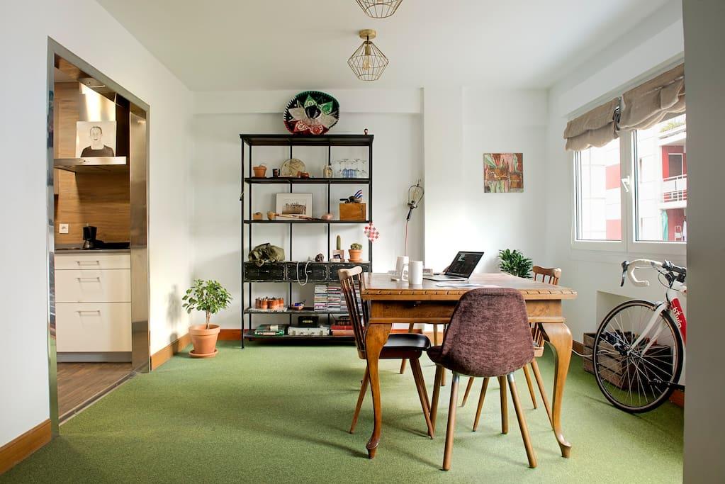 comfy dinning area