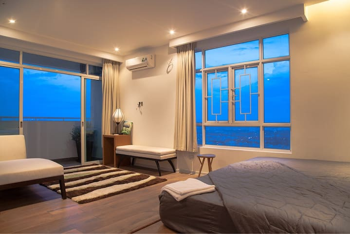 A master room in the big penthouse with great view