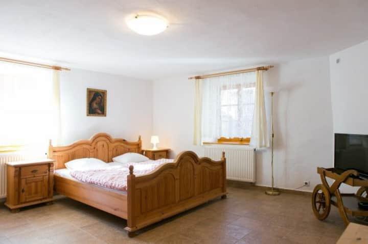 Krásný pokoj pro dva s přistýlkou