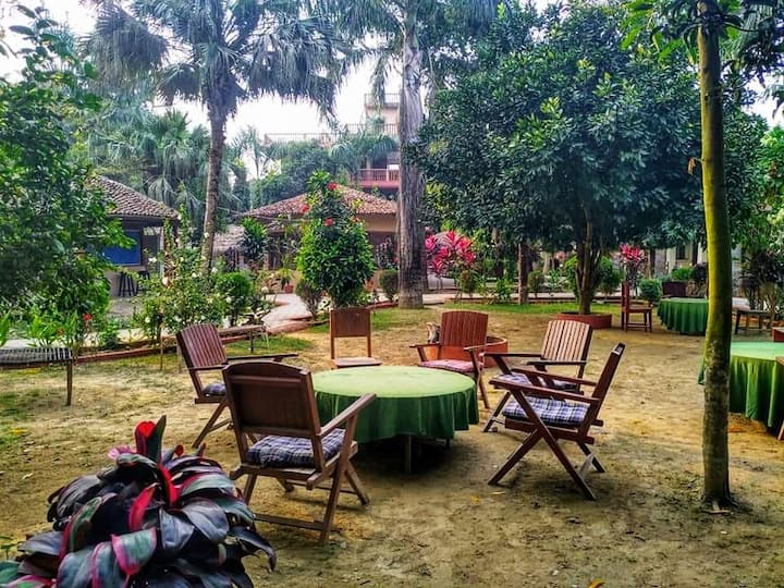 Eden jungle resort chitwan with beautiful garden