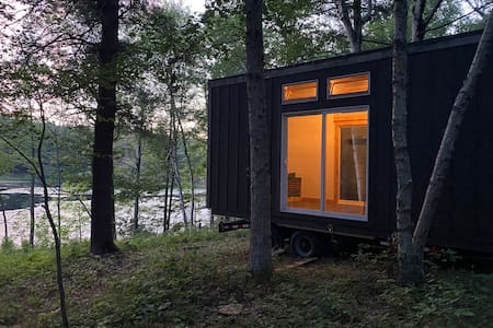 New! Tiny home on private pond!