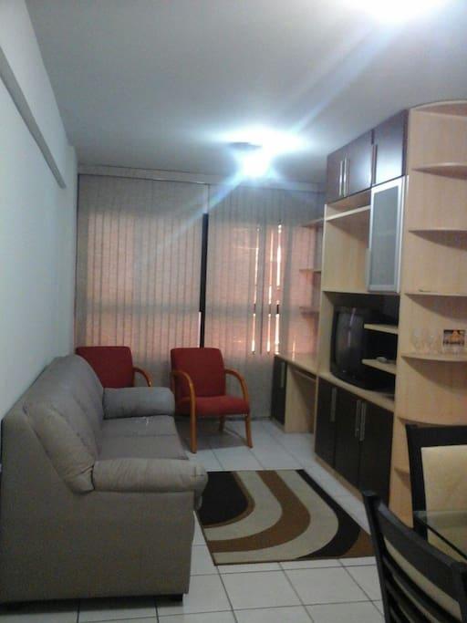 Sala 2 ambientes do apartamento