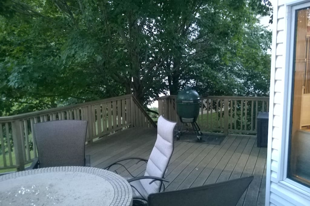 View of the deck under our Maple