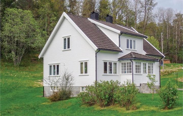 Amazing home in Hornes with 4 Bedrooms