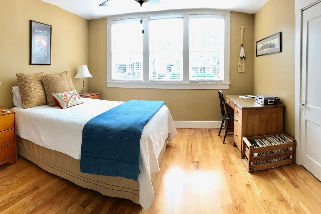 Upstairs bedroom with quality linens for a comfortable stay