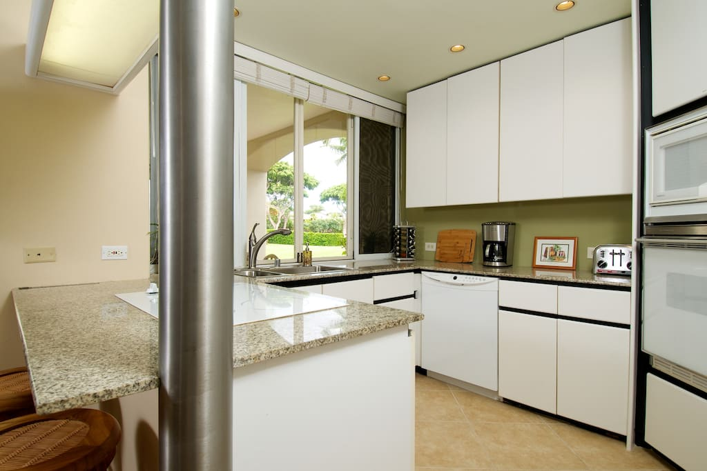 Kitchen has a pass-through to the lanai.