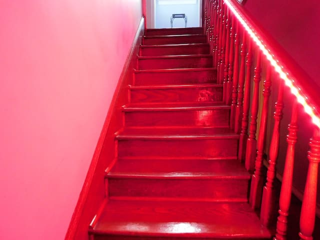 Stairs to Second Floor with Smart Lighting