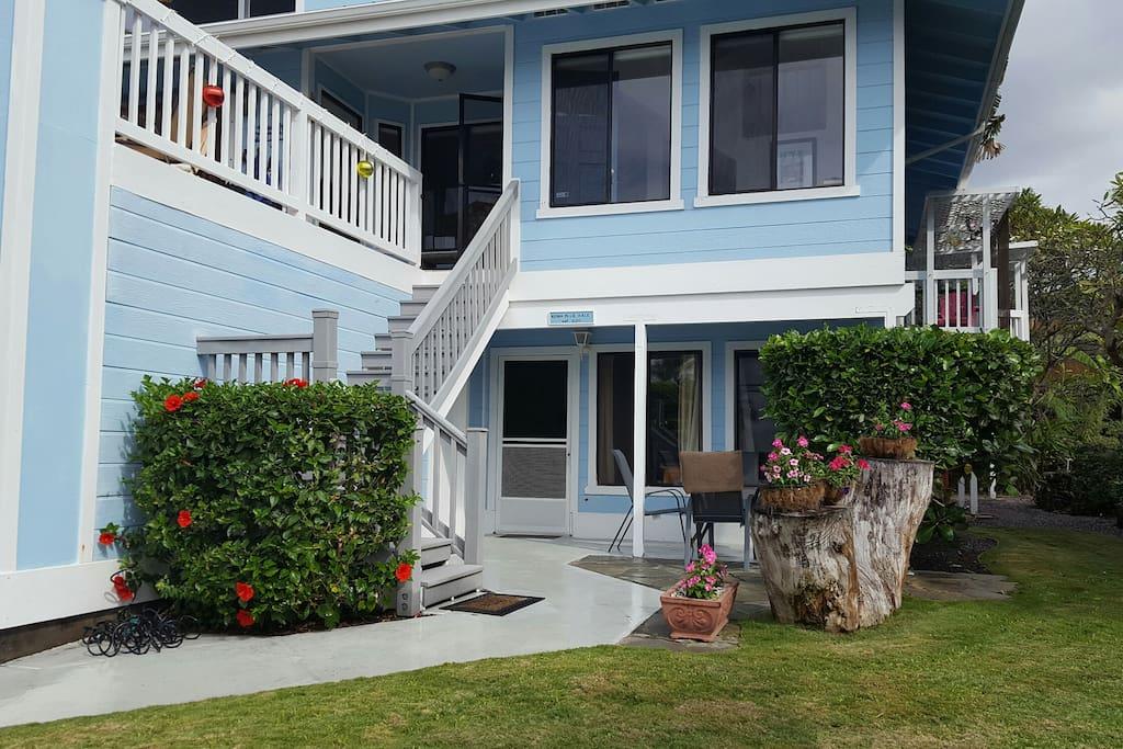 Lower door is vacation rental