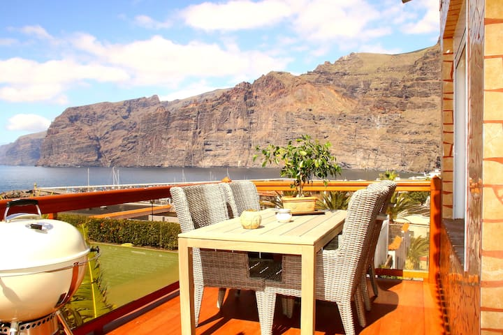 Luxury apartment + panoramic view - Santiago del Teide - Huoneisto